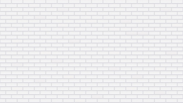 Parede de tijolo branco sem costura. textura detalhada. modelo interior com tijolos caiados de branco. superfície de construção repetida em cinza claro.