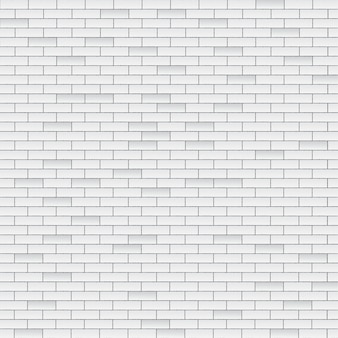 Parede de tijolo branco
