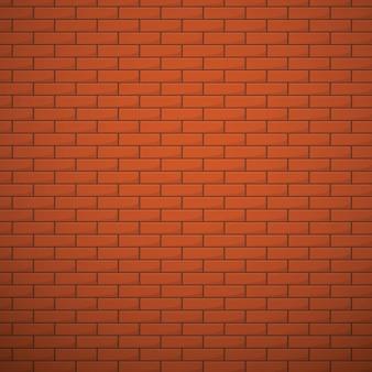 Parede de tijolos de laranja vector fundo sem emenda