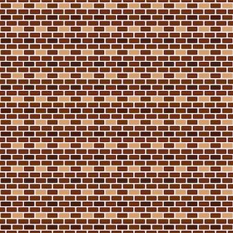Parede de tijolos sem costura. ilustração vetorial
