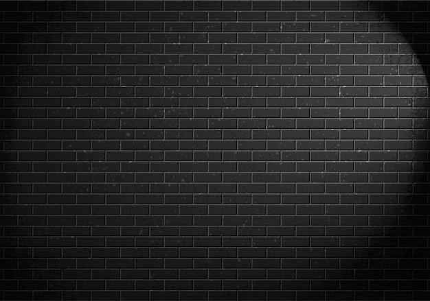 Parede de tijolos, tijolos cinza e sombra de luz da lâmpada. ilustração