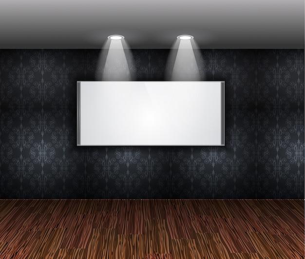 Parede elegante contemporânea da sala de exposições