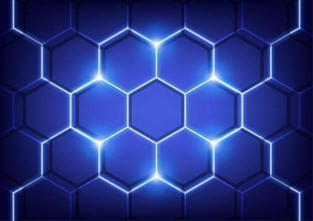 Parede hexa, conceito de vetor de tecnologia.