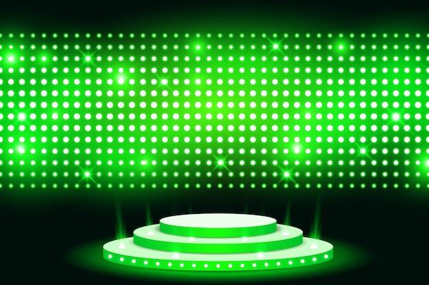 Parede levou luz tela de palco com lâmpada