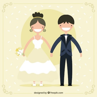 Pares de sorriso do casamento