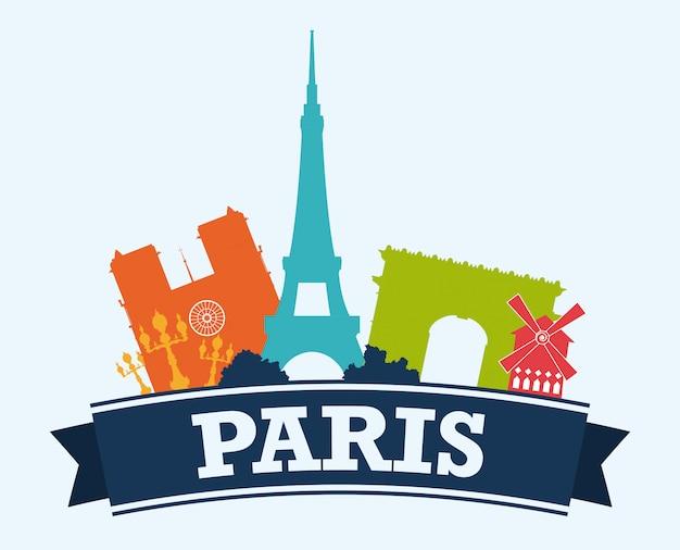 Paris design, ilustração vetorial.