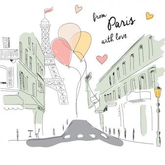 Paris fundo romântico