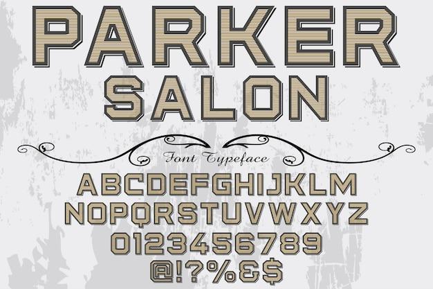 Parker artesanal vintage font