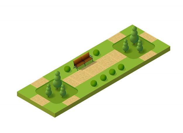 Parque 3d isométrico