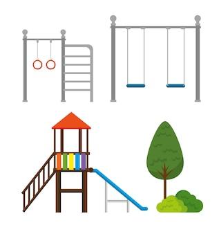 Parque com cena de zona de criança