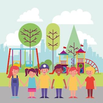 Parque de atividade de pessoas