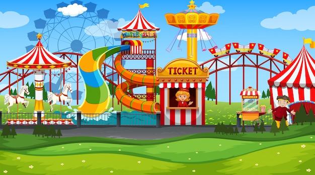 Parque de diversões da feira de diversões vazio