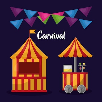 Parque de diversões diversão feira festiva festão decorativo