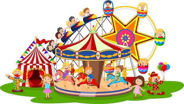 Parque de diversões dos desenhos animados
