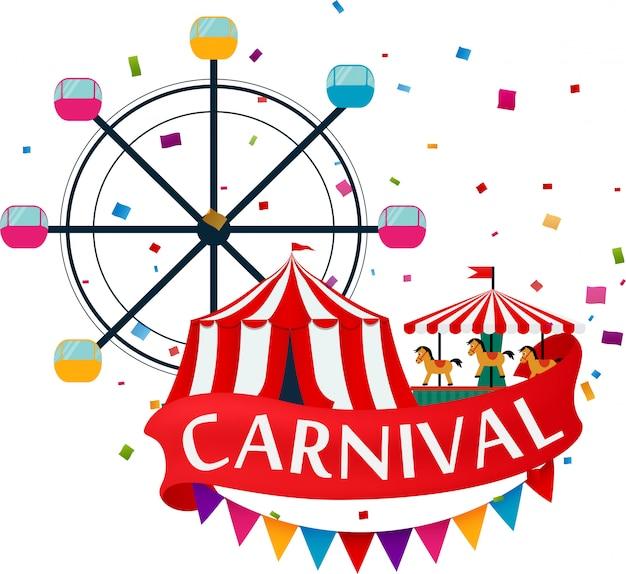 Parque de diversões e fundo de carnaval
