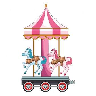 Parque de jogo de carrossel de cavalos