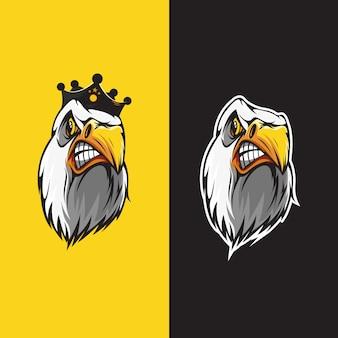 Parque de logotipo de cabeça de águia