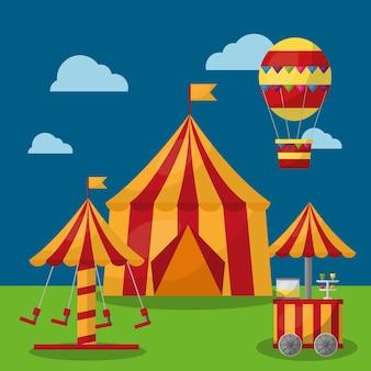 Parque de tendas de carnaval