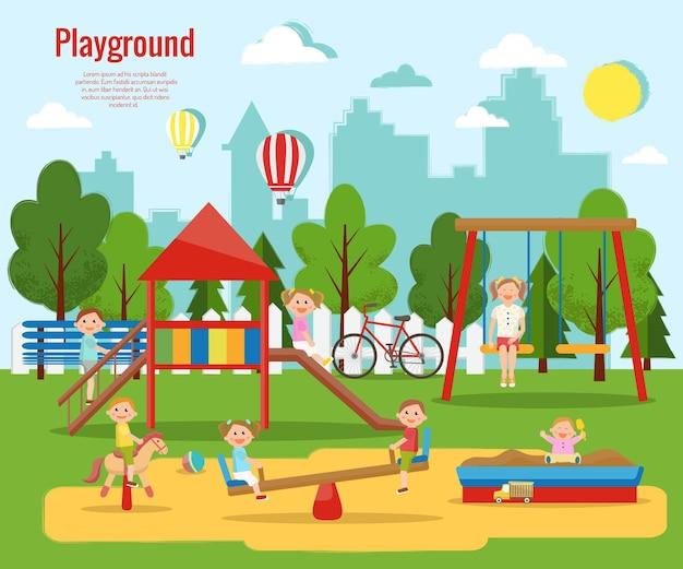 Parque infantil atividades infantis,