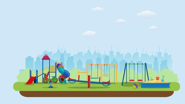 Parque infantil. edifícios