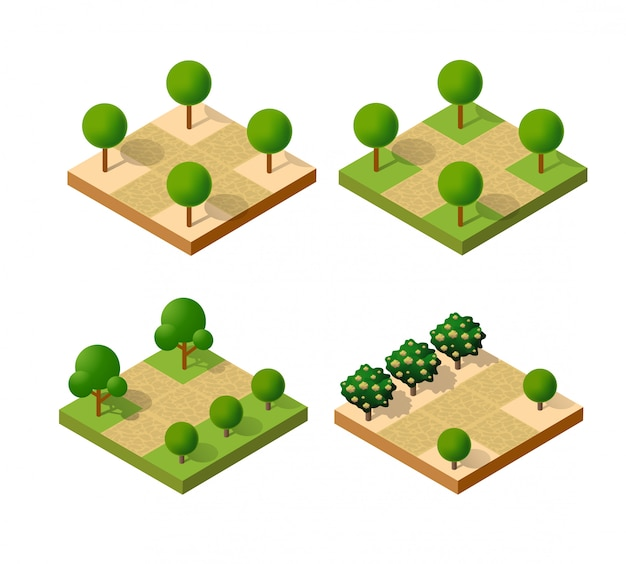 Parque isométrico urbano
