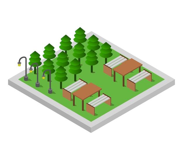 Parque isométrico