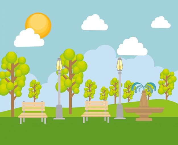 Parque natureza verde