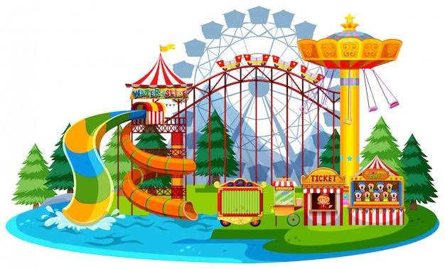 Parque temático da água do divertimento