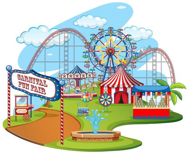 Parque temático da feira de diversões