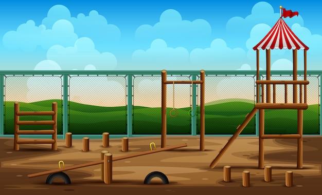 Parques infantis de jardim de infância para atividades infantis