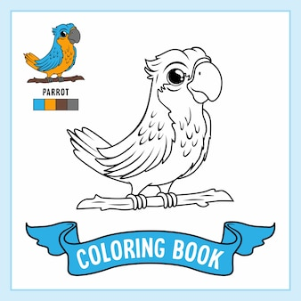 Parrot bird coloring pages book animals