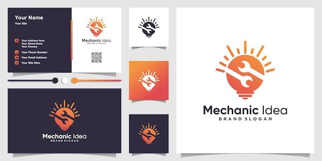 Parte 2 do logotipo da ideia mecânica com conceito criativo moderno premium vector