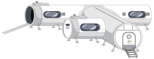 Parte da estação espacial isolada