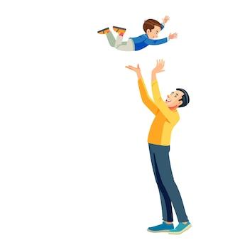 Parte da série de banners de celebração do dia dos pais Vetor Premium