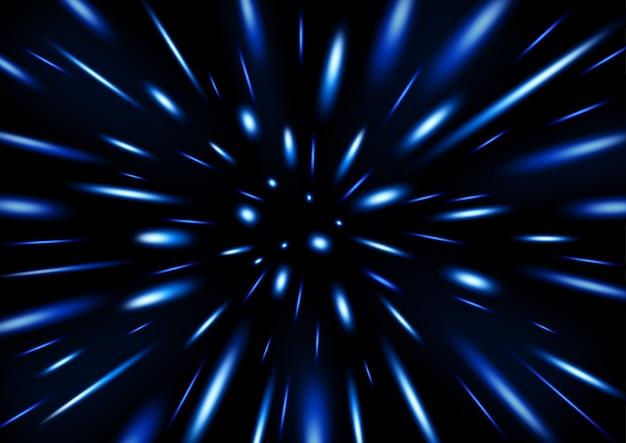 Partícula de brilho azul chovendo