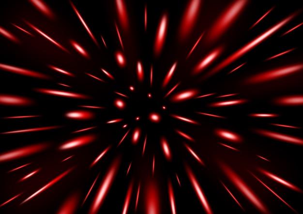 Partícula de glitter vermelho chovendo
