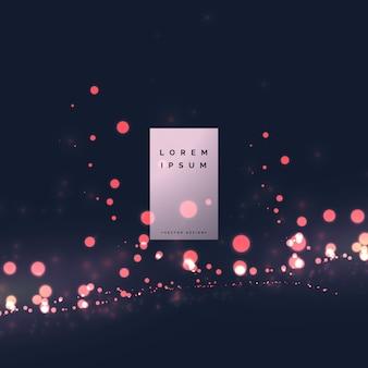 Partícula de luz bokeh efeito fundo