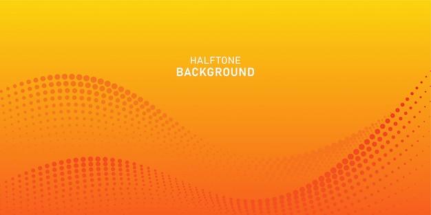 Partícula de onda digital abstrata em fundo laranja