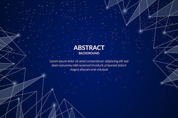 Partícula de tecnologia abstrata