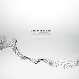 Partículas 3d onda fundo abstrato estilo