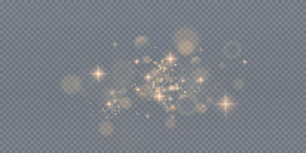 Partículas brilhantes de pó de fada
