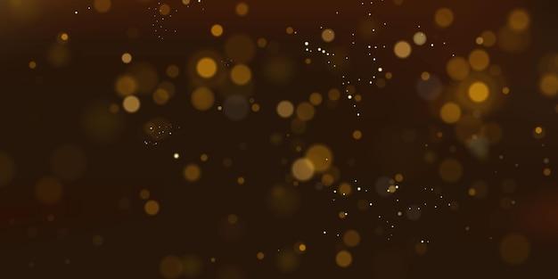 Partículas brilhantes do conceito de magia de pó de fada abstrato festivo