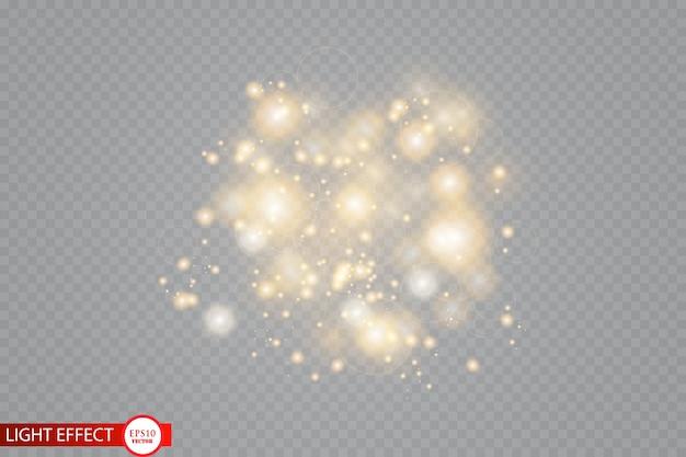 Partículas cintilantes de estrelas de poeira encantada