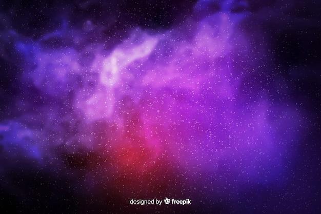 Partículas de galáxias fundo