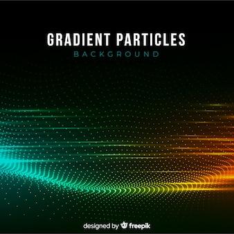 Partículas de gradiente fundo escuro