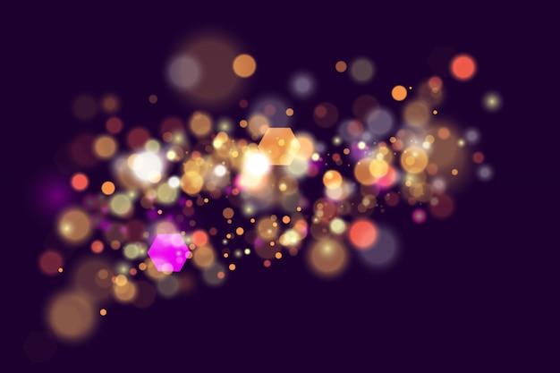 Partículas de pó amarelo ouro mágico cintilantes. ouro mágico