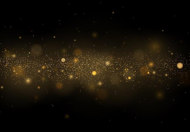 Partículas de poeira mágica cintilante. abstrato com efeito bokeh