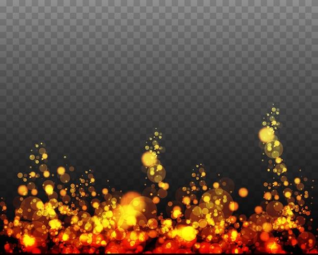 Partículas de poeira mágica cintilantes. conceito mágico. efeito bokeh