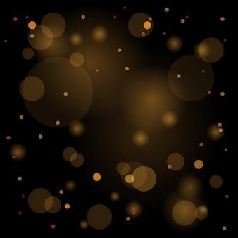Partículas de poeira mágica cintilantes. conceito mágico. fundo abstrato com efeito bokeh