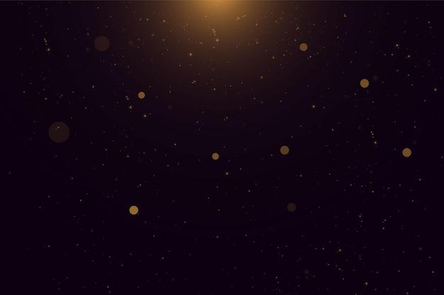 Partículas de poeira mágica cintilantes. efeito bokeh